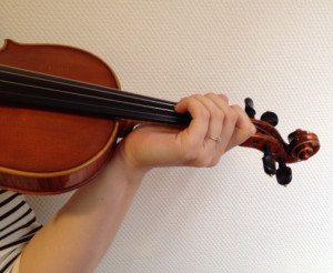 centenbak linkerhandpositie viool