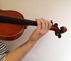 goede linkerhand houding viool