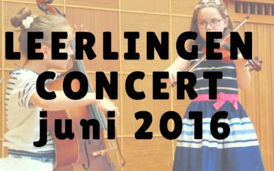 [Video] Leerlingenconcert 26 juni 2016