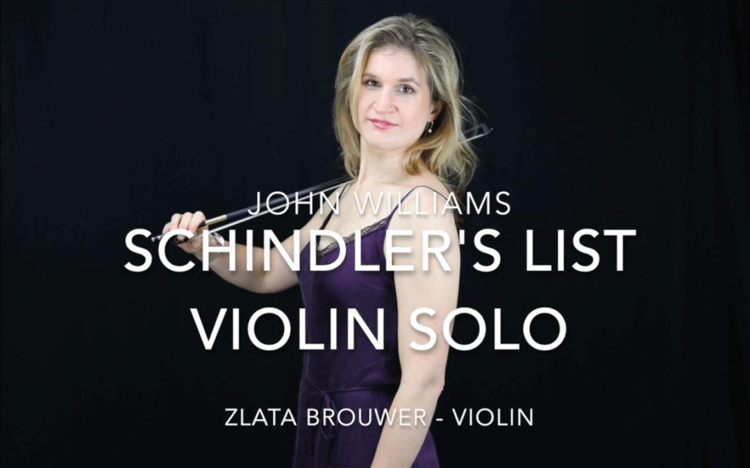 Schindler's List – Viool Solo – Muziek video door Zlata Brouwer