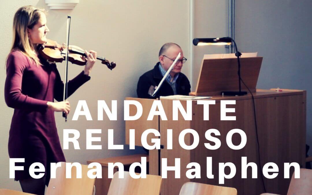 Andante Religioso van Fernand Halphen (viool en orgel)