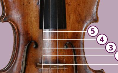 Strijk op verschillende contactplaatsen op je viool en verander je klank