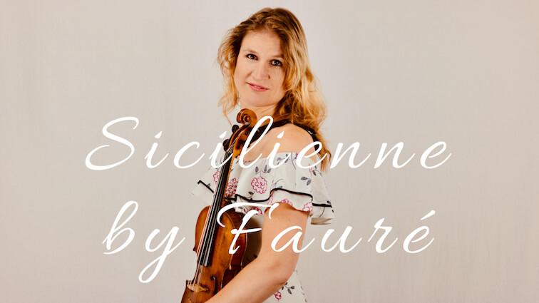 Sicilienne – Fauré (viool en piano)